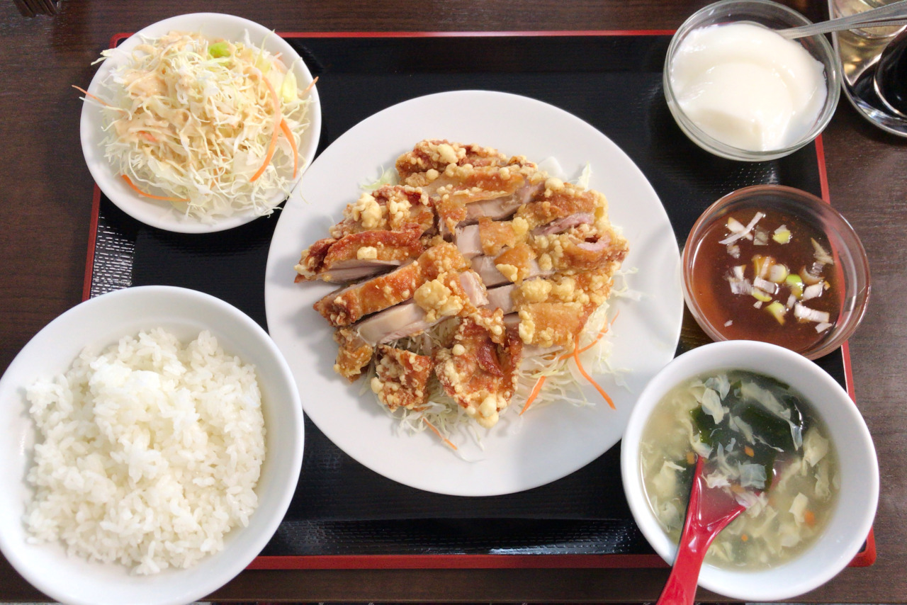 JR本千葉駅近くの新店舗パンダしょくどうを初訪問!油淋鶏定食はリーズナブルながらボリュームたっぷり