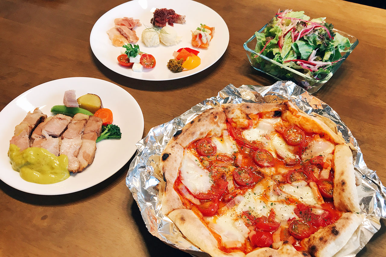 四街道イタリアンバールGOCHIのテイクアウト!ピザにオードブルや肉料理まで付いてくる豪華なセットがもはやこれはパーティー